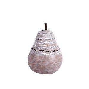 ULMUS ΑΧΛΑΔΙ POLYRESIN ΦΥΣΙΚΟ/ΛΕΥΚΟ 16,5x16xY22,5cm